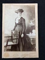 Victorian Photo: Cabinet Card: Lady Elegant Hat: Phillipse? Ilfracombe