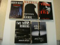 5 book lot set Andrew Vachss Sacrifice Choice Evil Another Life Footsteps Trains
