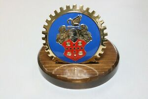 New Packard Badge Mounted on Wood Base, Great Desk Item - Great Gift!