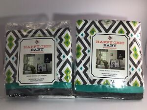Happy Chic Baby Safari Monkey Collection Window Valance (2 Packages)