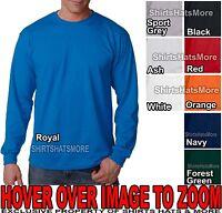 Gildan Mens Poly Cotton LONG SLEEVE T-Shirt S, M, L, XL, 2XL, 3XL NEW