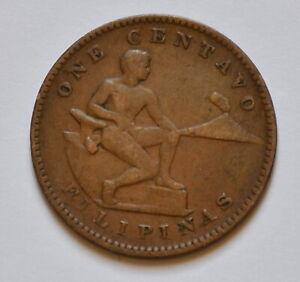 1918-S Philippine One Centavo -- F condition