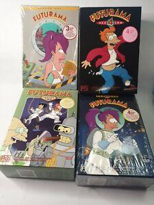 Futurama Seasons 1 to 4 DVD Region 4 AUS TV Series Free Postage
