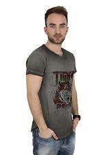 Tigha Pride Msn Camiseta Vintage Antracita 102038 - Camiseta - Hombre + Nuevo +
