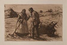 Heinrich eickmann (1870-1911) gravure Allemagne du Nord Mecklembourg-Lübeck