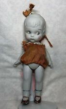 8� Antique Japanese All Bisque Unbranded Adorable Little Girl Molded #Sf