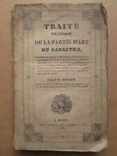 BUSSET : TRAITE DE LA PARTIE D'ART DU CADASTRE, 1827 (Arpentage Auvergne).