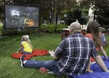 Outdoor Movie Backyard Wide Screen Projector Inflatable Portable Theater Cinema
