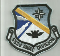 USAF United States Air Force 552d Awac Division patch 4 X 4-1/8 #1852