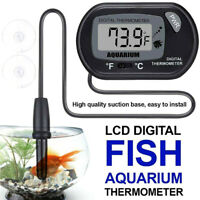 LCD Digital Fish Tank Reptile Aquarium Water Meter Thermometer TemperatureJCAUJC