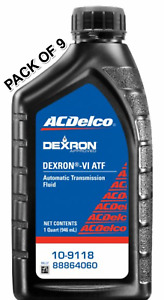 9 Quarts Automatic Transmission Fluid ACdelco 109118 Replace OEM M465ATF1D6SYN