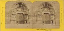 Angers Cathédrale France Photo Stereo BK Paris Vintage Albumine ca 1870