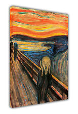 EDVARD MUNCH THE SCREAM CANVAS PAINTING RE-PRINT PORTRAIT PRINTS WALL ART IMAGES