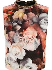 BNWT Oasis Bloom Rose Floral Embellished Evening Occasion Top Size 8 NEW