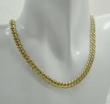 Vintage Gents / Ladies 9 Carat Gold Double Curb Link Neckchain 16 Inches