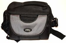 Digital Camera Travel Bag Case Accessories Zippered Black With Strap Zing Black