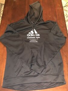 Adidas Men's For Creators Only Black Hoodie Climawarm Men's XL Print Hoodie