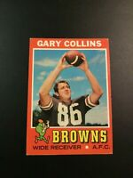 1971 Topps # 75 GARY COLLINS Cleveland Browns EXT - MINT Sharp LOOK !