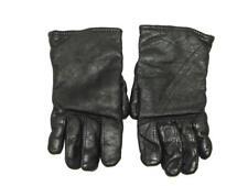Vintage Military Gloves Size 7 Black Light Duty Sheepskin Leather Wool Lined sm