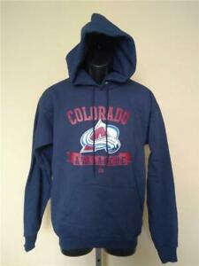 New Colorado Avalanche Mens Sizes S-M Navy Blue Majestic Hoodie