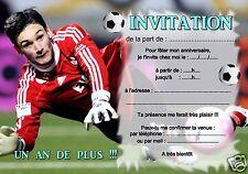 5 oder 12 geburtstag einladungskarten fußball lloris REF 365