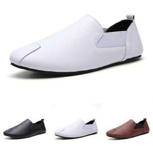 Mens Faux Leather Pumps Slip on Loafers Shoes Driving Moccasins Soft Comfy New D