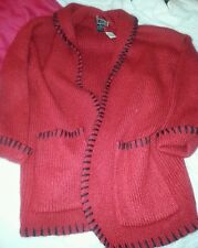vtg FORENZA Cardigan Sweater MOHAIR blend sz M New W/Tag