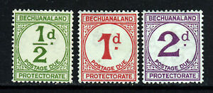BECHUANALAND PROTECTORATE 1932 POSTAGE DUES Set SG D4 to SG D6 MINT