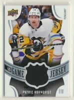 2018-19 Upper Deck Series 1 UD Game Jersey Patric Hornqvist Pittsburgh Penguins