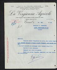 """EPINAL (88) MATERIEL & NOURRITURE pour AGRICULTURE """"LA VOSGIENNE AGRICOLE"""" 1950"""