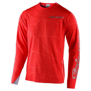 TROY LEE DESIGNS MEN'S SPRINT ULTRA JERSEY L/S- PODIUM RED/SILVER LARGE