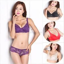 Lady Super Boost Magic Enhancer Push Up Bra Padded Plunge Lace Floral Bra A78