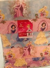 Rare DISNEY Gift Wrapping Paper DISNEY PRINCESSES x 10 Sheets - BNWT Christmas