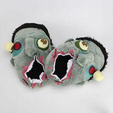 Individu Bloody Mouth Unisex Horrible Zombie Kyonshi plush indoor slippers shoes