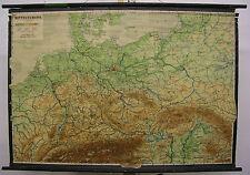Schulwandkarte schöne alte Deutschlandkarte 1946 gedruckt 124x86cm vintage map
