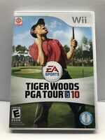 Tiger Woods PGA Tour 10 (Nintendo Wii Game) Complete w/ Manual - Clean & Tested