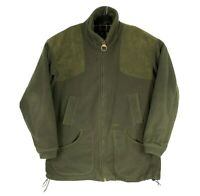 Barbour Northumberland Range Lord James Percy Green Dunmoor Fleece Jacket Sz XL