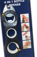 4 IN 1 MULTI BOTTLE OPENER - LID RING PULL - BOTTLE TOP - SCREW REMOVER TOOL AID