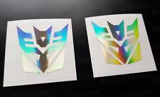 50 mm (5 cm) Decepticons x2 Transformers or hologramme NEO CHROME stickers decals