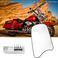 Universal Motorcycle Windshield Windscreen Wind Screen Deflector Front USA