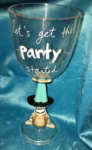 Let's Get This Party Started Sandra Magsamen plastic wine glass Upside Down Lady