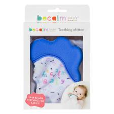 Becalm Baby® Teething Mitten Mitt Glove Silicone Teether Happy Hand - Blue