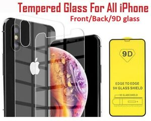 Front and Back 3D Full Tempered Glass Protector for iPhone 11/11 Pro/11 Pro Max