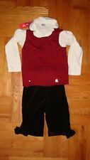 NWT 3 pc lot Gymboree & Pappa & Ciccia outfit set pants vest shirt bows HOLIDAy