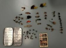 Antique/Vintage Fishing Flies/Lures Lot of 60 with case.