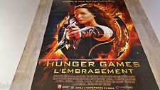 HUNGER GAMES II l'embrasement  ! affiche cinema