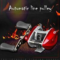 Red Spinning Fishing Reel Bearings Waterproof Right Hand Baitcasting with Line