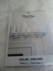Martha Stewart  - Snowflake Garland - New