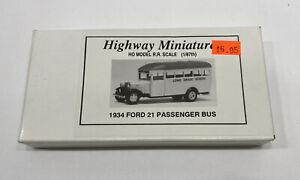 HO HOn3 HOn30 Jordan 1934 Ford 21 Passenger Bus Kit
