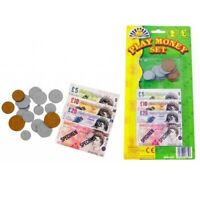 2x Kids Children's Play Money Fake Pretend Shops Cash Pound Notes Coins Toy £
